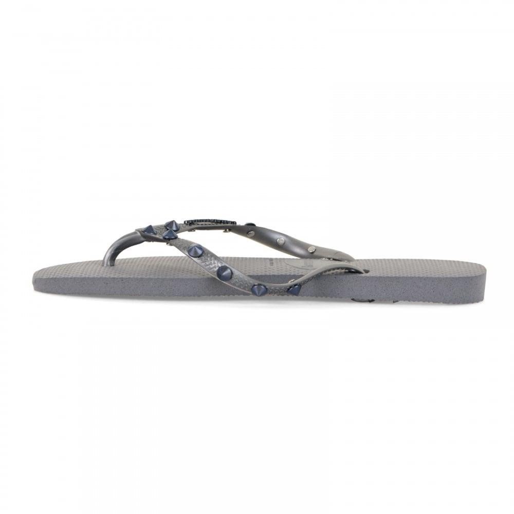 Havaianas Womens Slim Hardware Flip Flops (Grey) - Womens from Loofes UK f2f4f21e963b
