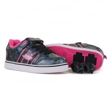 Heelys Juniors Bolt Plus Hologram Trainers (Black/Pink)