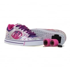 Heelys Juniors Motion Plus 216 Trainers (Silver/Pink/Purple)