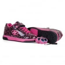 Heelys Juniors X2 Dual Up 316 Trainers (Black/Hot Pink)