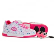 Heelys Juniors X2 Duel Up Trainers (White/Pink)