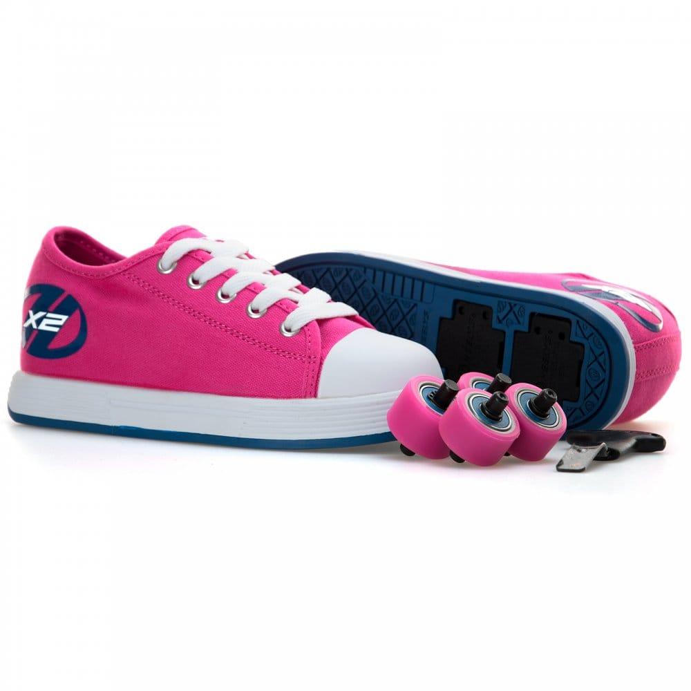 eda01f9fd66 Heelys Juniors X2 Fresh Trainers (Pink Navy)