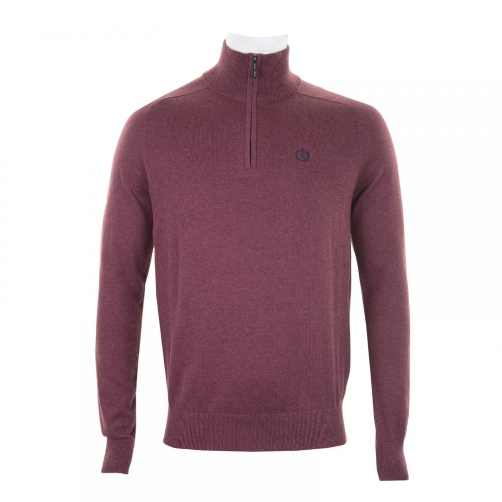 Henri Lloyd Mens Miller Half Zip Knit Sweater (Burgundy) - Mens ...