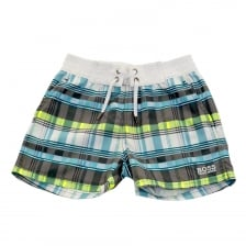 Hugo Boss Infants Check Swim Shorts (Blue)