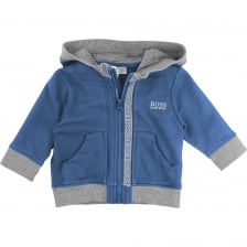 Hugo Boss Infants Hooded Jacket (Blue)