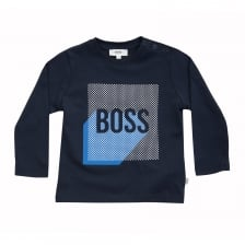 Hugo Boss Infants Long Sleeve T-Shirt (Navy)