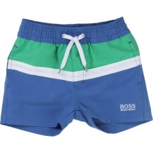 Hugo Boss Infants Stripe Swim Shorts (Blue)