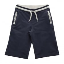 Hugo Boss Juniors Fleece Bermuda Shorts (Navy)