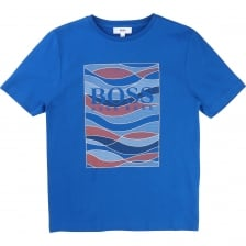 Hugo Boss Juniors Graphic T-Shirt (Blue)