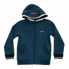 Hugo Boss Juniors Hoody (Blue)