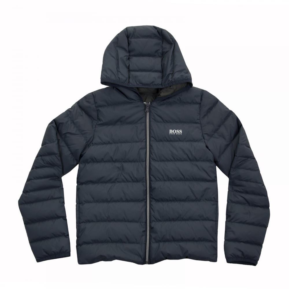 hugo boss juniors puffer jacket navy kids from loofes uk. Black Bedroom Furniture Sets. Home Design Ideas