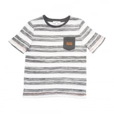 Hugo Boss Juniors Stripe T-Shirt (White)