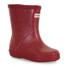 Hunter Infants First Glitter Wellington Boots (Red)