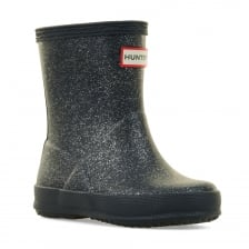Hunter Infants Original First Glitter Wellington Boots (Navy)