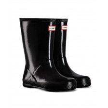Hunter Infants Original First Gloss Wellington Boots (Black)