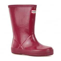 Hunter Infants Original First Gloss Wellington Boots (Raspberry)