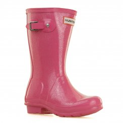 Hunter Juniors Original Glitter Wellington Boots (Pink)