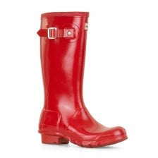 Hunter Juniors Original Gloss Wellington Boots (Red)