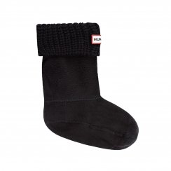 Hunter Juniors Original Half Cardigan Boot Socks (Black)