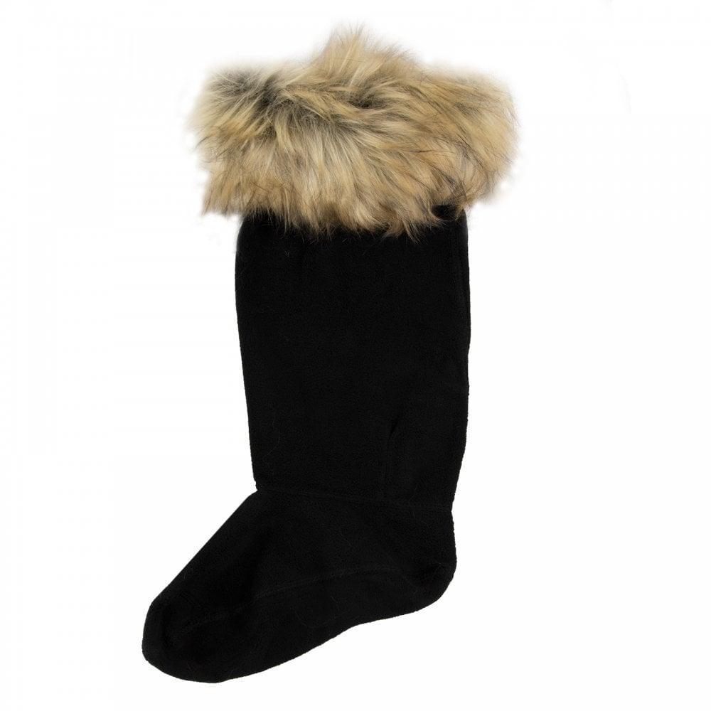 Hunter Womens Faux Fur Boot Socks (Tawny) - Womens from Loofes UK 50f585dbcc