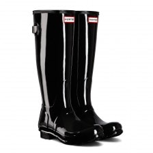 Hunter Womens Original Adjustable Gloss 2015 Wellington Boots (Black)
