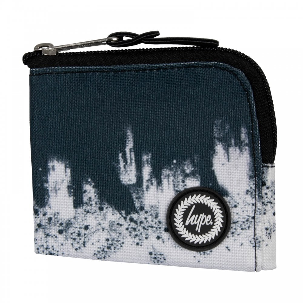 3ea3a0edb208 Hype Brushed Zip Wallet (Black   White) - Mens from Loofes UK
