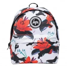 Hype Camo Floral Backpack (White)
