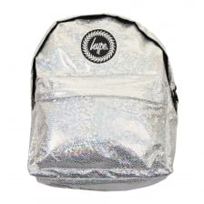 Hype Glitter Snake Backpack (Silver)