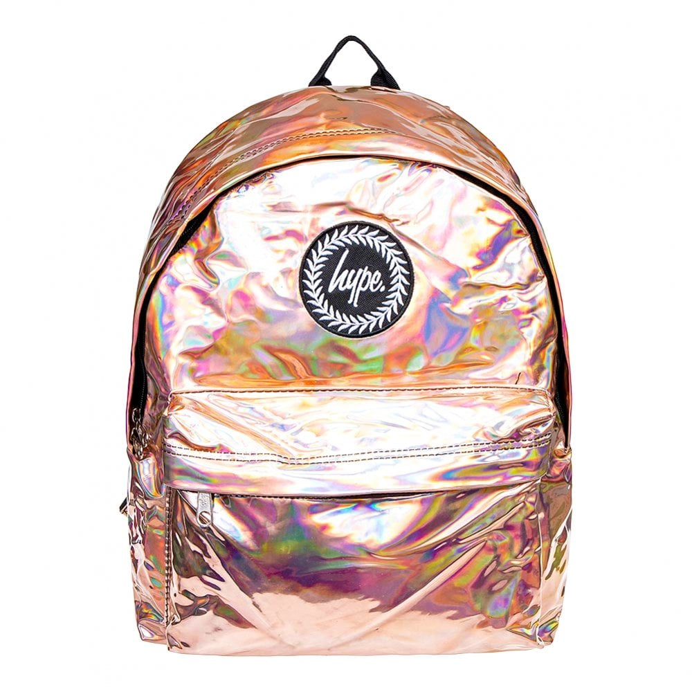 new authentic huge inventory new high Holographic Backpack (Rose Gold)