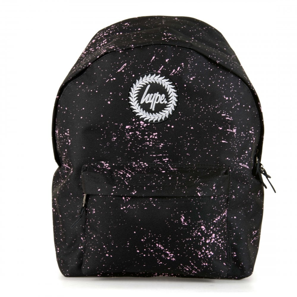 1ae6e97b9039 Hype Paint Splat Backpack (Black Pink) - Womens from Loofes UK