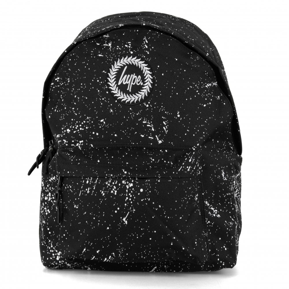 4068779eb323 Hype Paint Splat Backpack (Black White) - Womens from Loofes UK