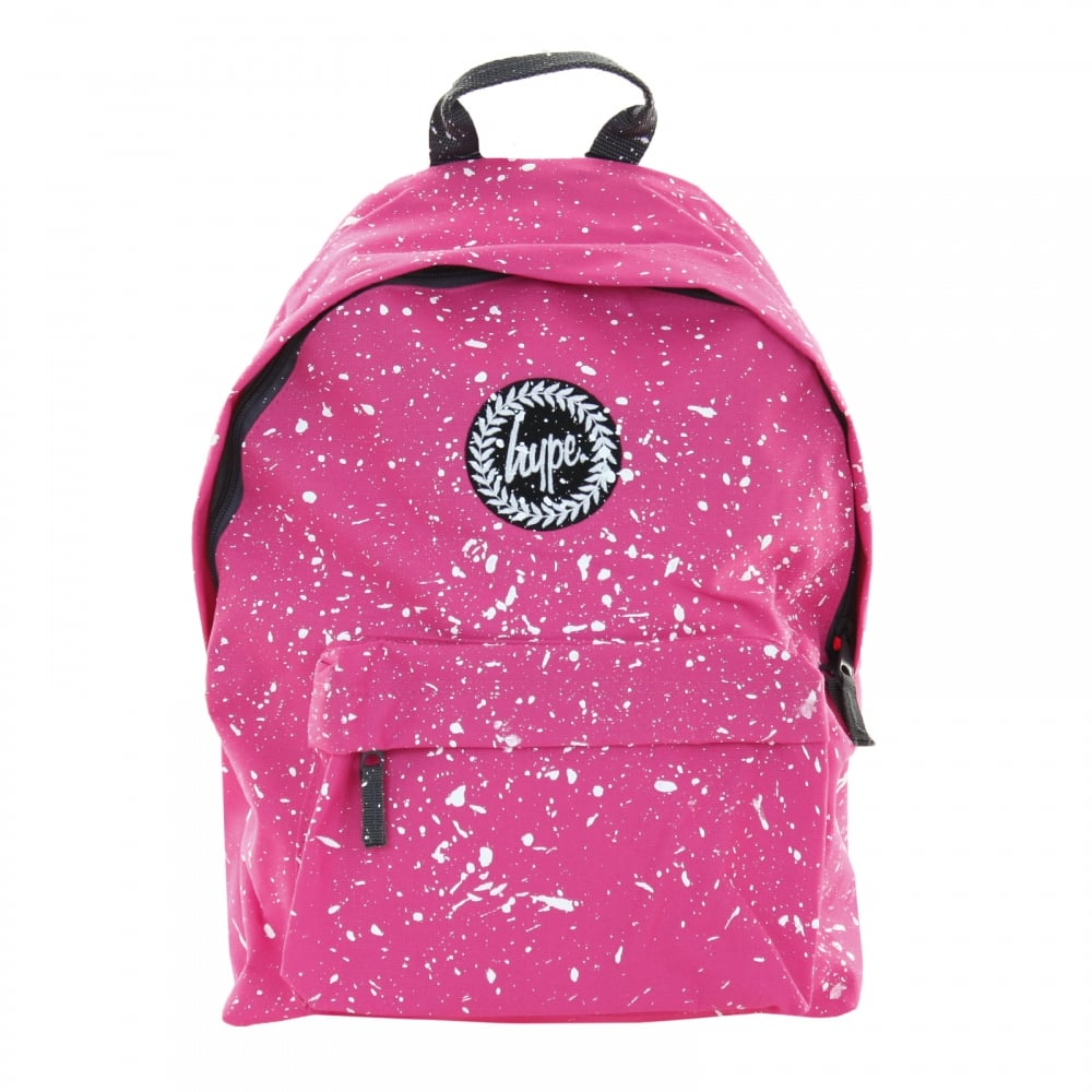 Hype Paint Splat Backpack (Pink White) - Womens from Loofes UK 922c28b749