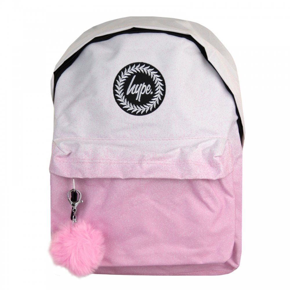 Hype Speckle Fade Pom Pom Backpack (White Pink) - Mens from Loofes UK 54d79f350d220