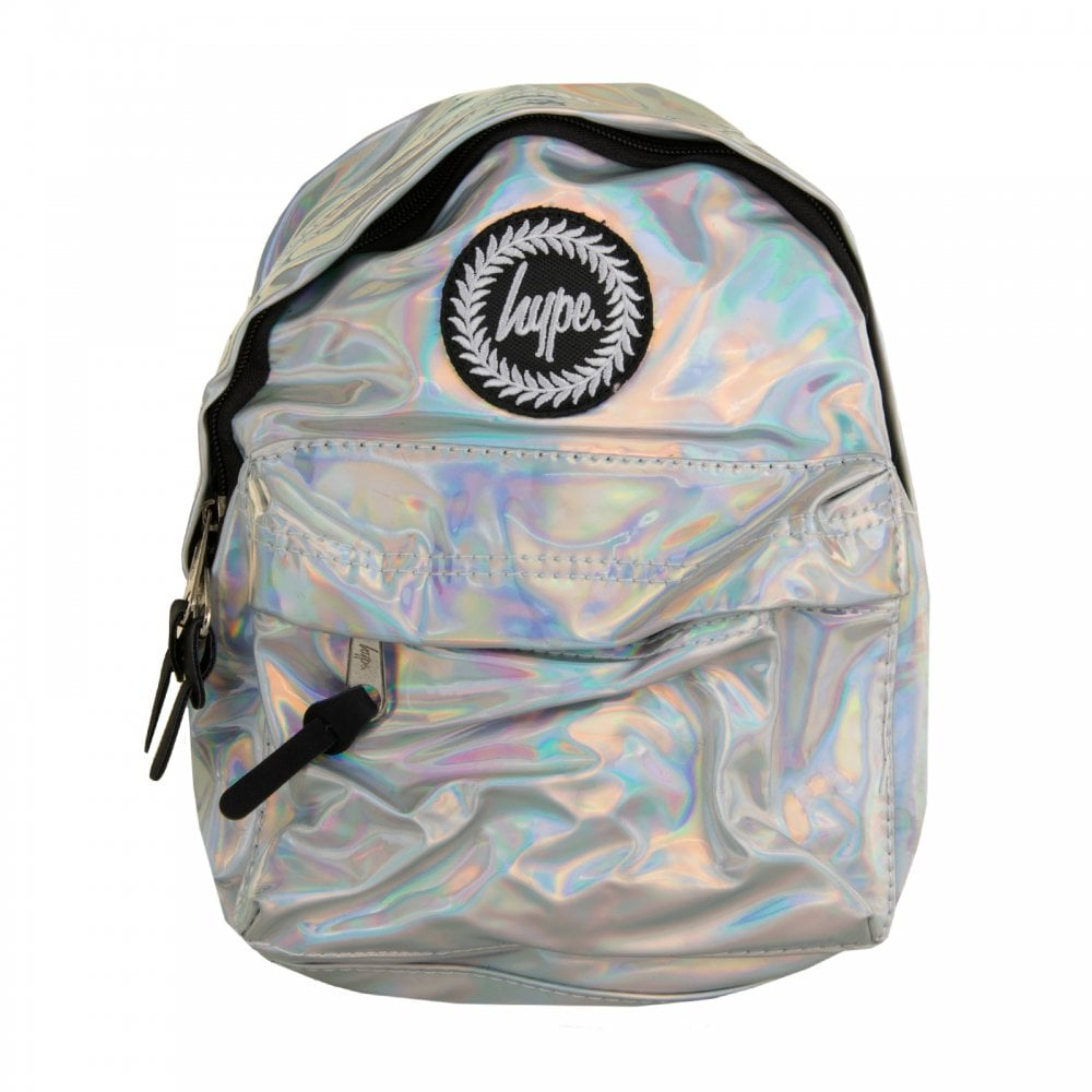 5557adce2c78 Hype Xmas Mini Hologram Backpack (Silver) - Mens from Loofes UK