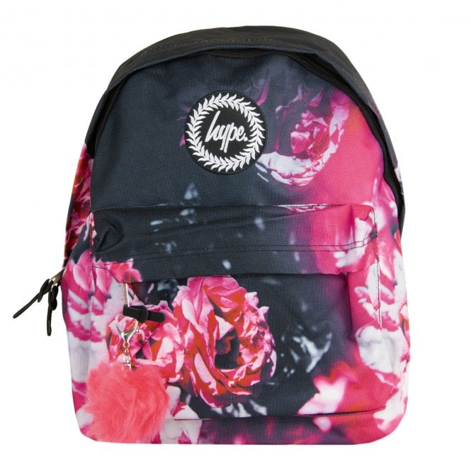 b428422822d4 Hype Xmas Red Floral Pom Pom Backpack (Red) - Mens from Loofes UK