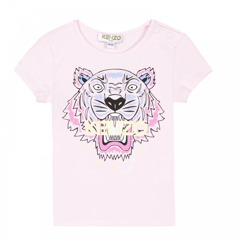 5c01f51df3da Kenzo Infants Tiger Print BG 1 T-Shirt (Pink) - Kids from Loofes UK