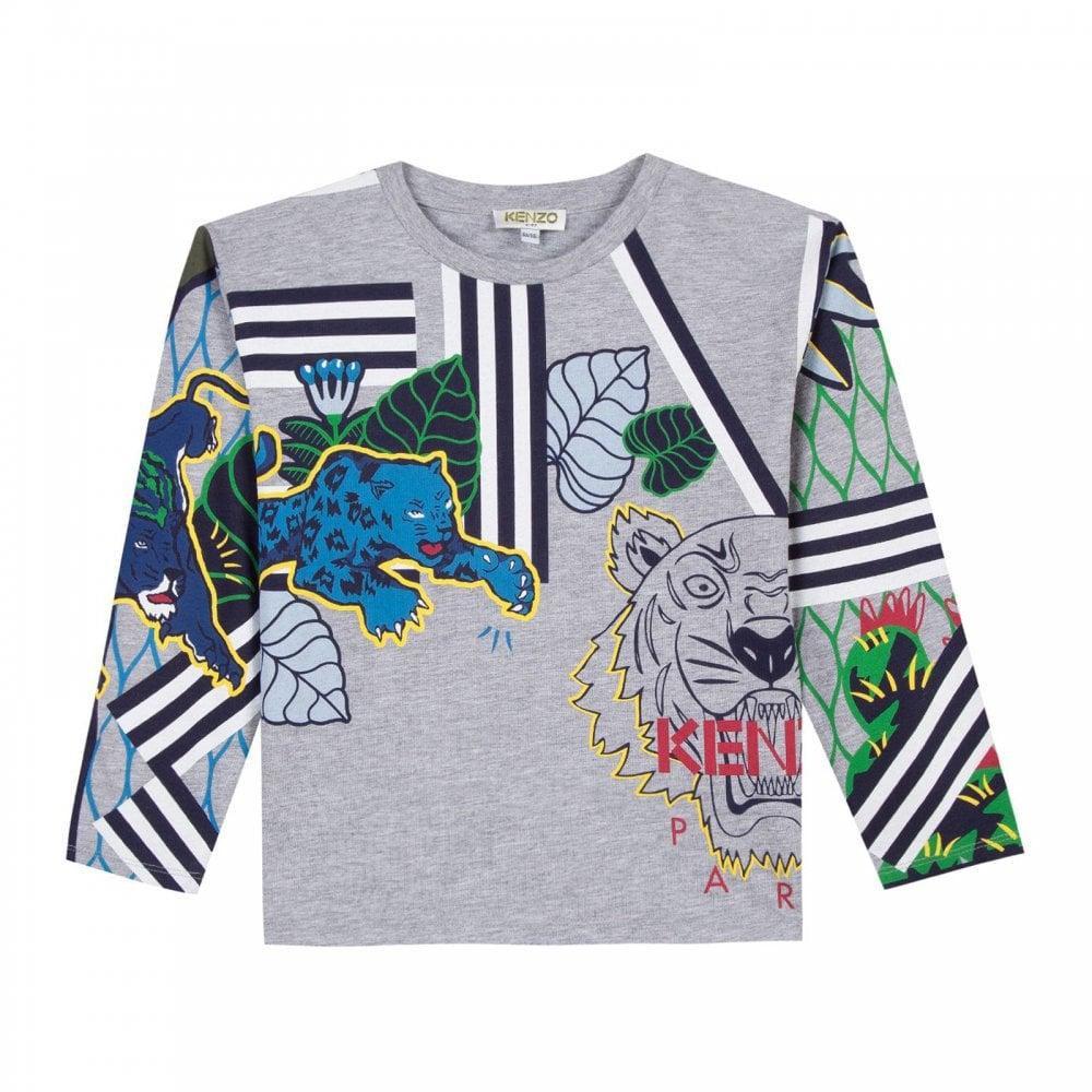 bb5d4e13 Kenzo Juniors Erwann T-Shirt (Grey) - Kids from Loofes UK