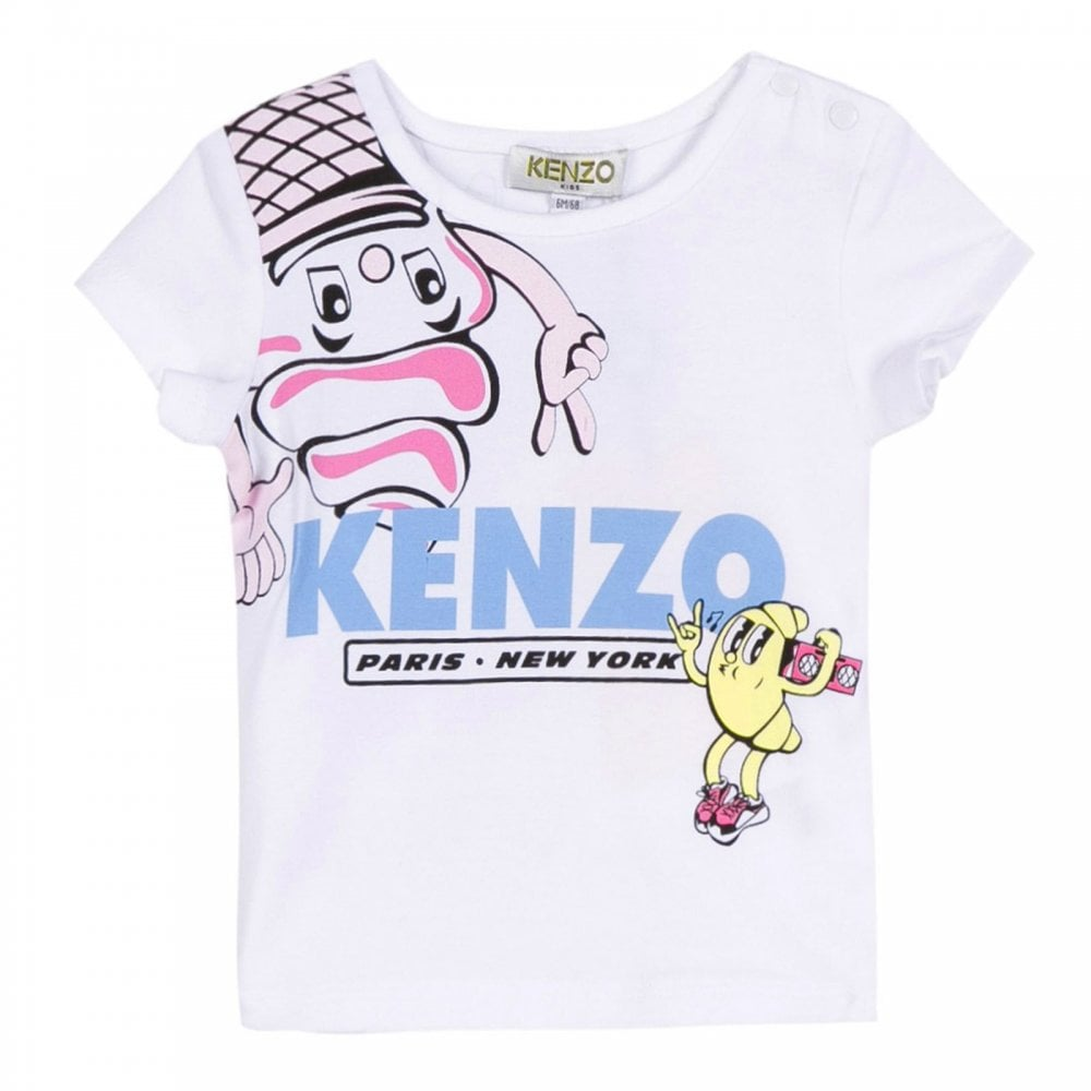 56ba7fd6 Kenzo Kids Infants Discotte Ice Cream T-Shirt 3m-4y (White) - Kids ...