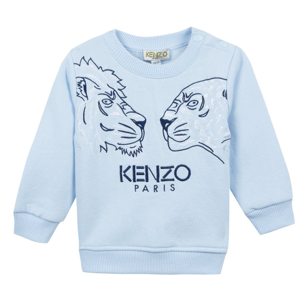 b8305579 Kenzo Kids Infants Eleis Embroidered Faces Sweatshirt (Blue) - Kids ...