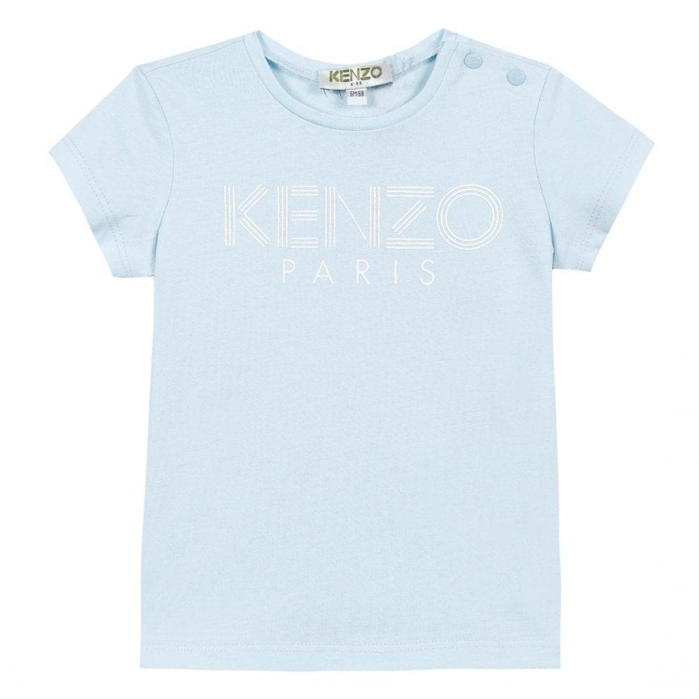 61b305df Kenzo Kids Infants Logo T-Shirt 6m-3yrs (Blue) - Kids from Loofes UK
