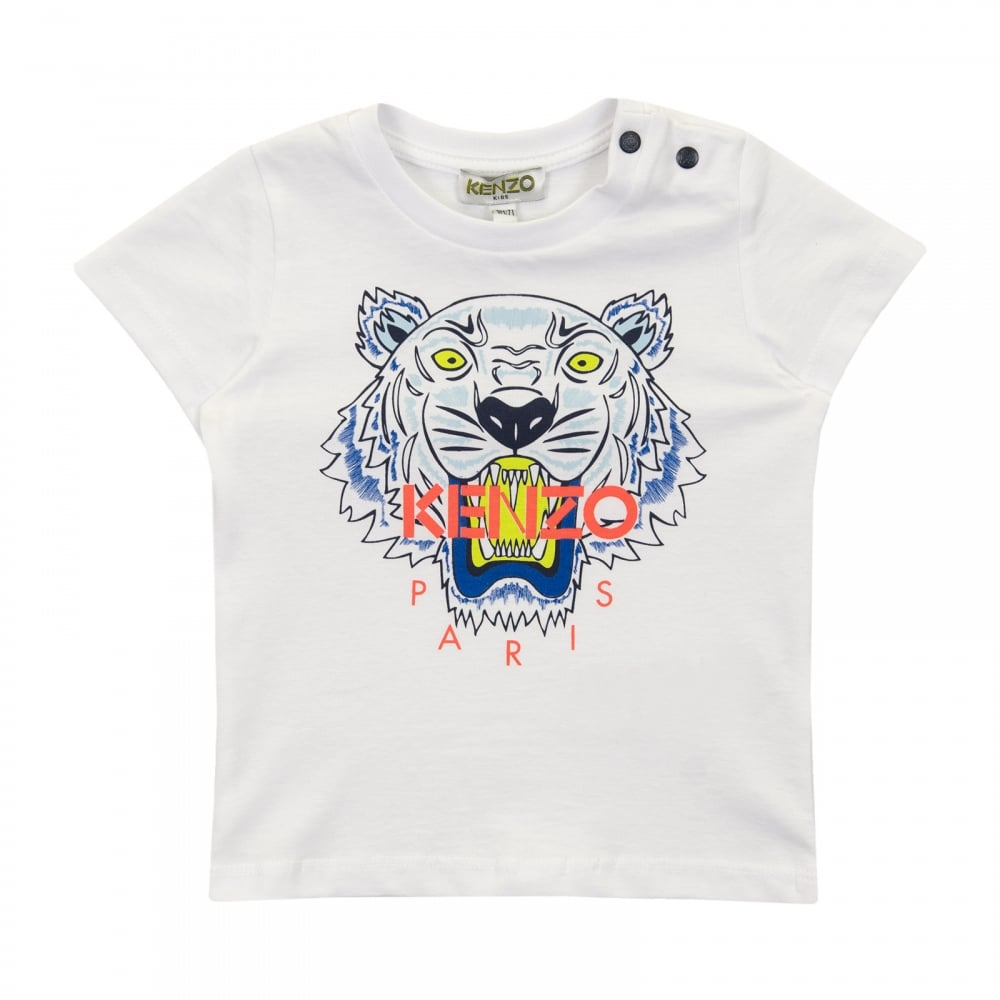 d0368f7e Kenzo Kids Infants Tiger Face T-Shirt 3m-18m (White) - Kids from ...