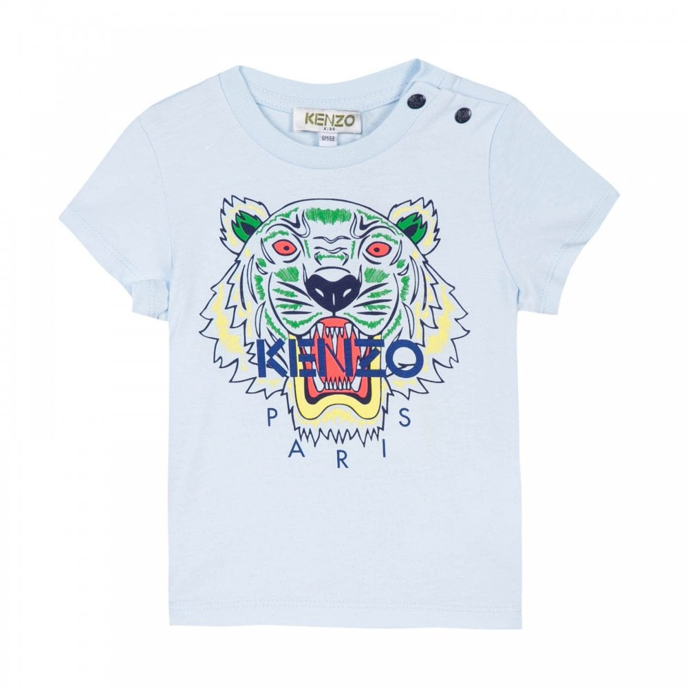 79454d81 Kenzo Kids Infants Tiger Face T-Shirt (Blue) - Kids from Loofes UK