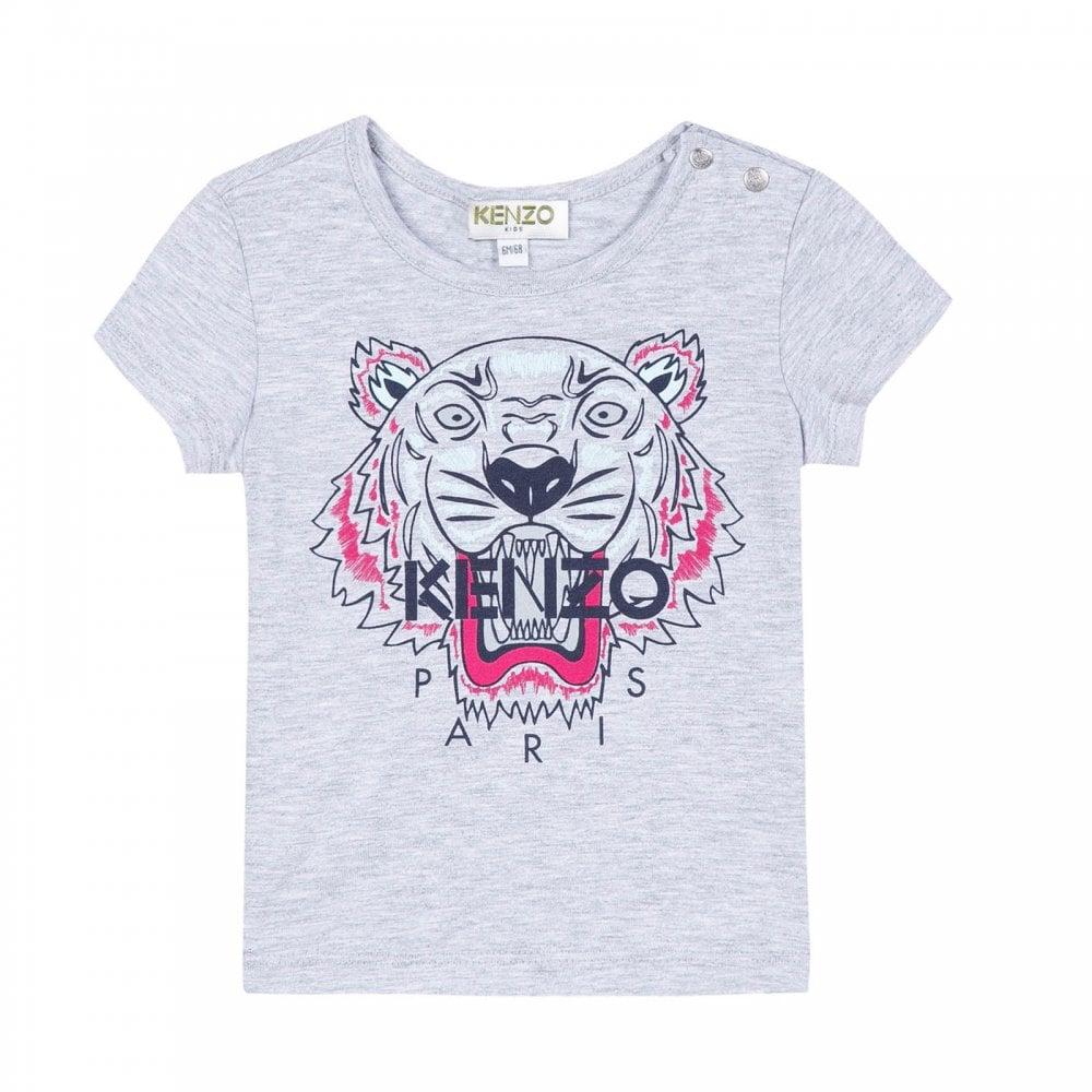 e0a42df4 Kenzo Kids Infants Tiger Print T-Shirt (Grey) - Kids from Loofes UK