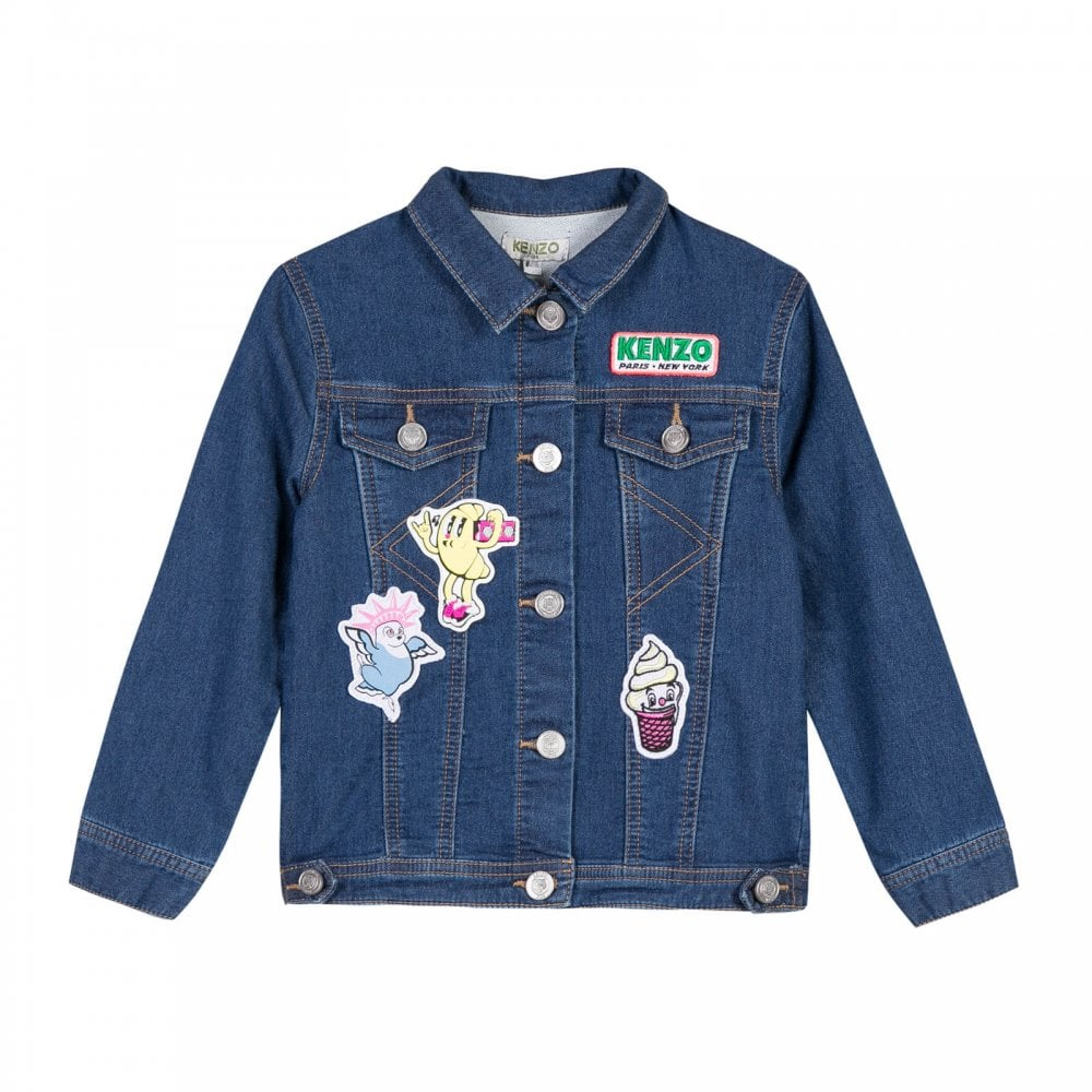 e59b11924 Kenzo Kids Juniors Dori Food Fiesta Denim Jacket (Blue) - Kids from ...