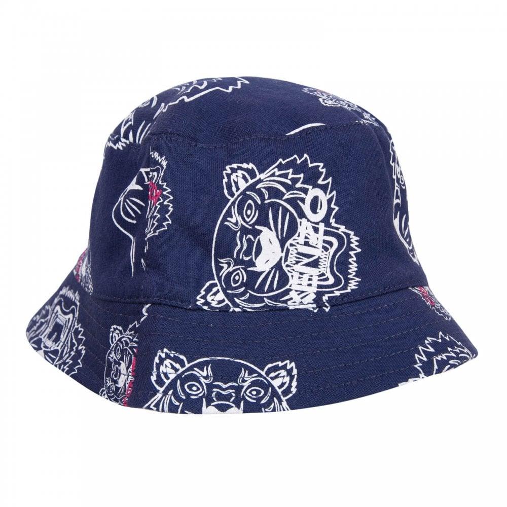 Kenzo Kids Juniors Dory Reversible Bucket Hat (Navy   White) - Kids ... ae3d73e74094