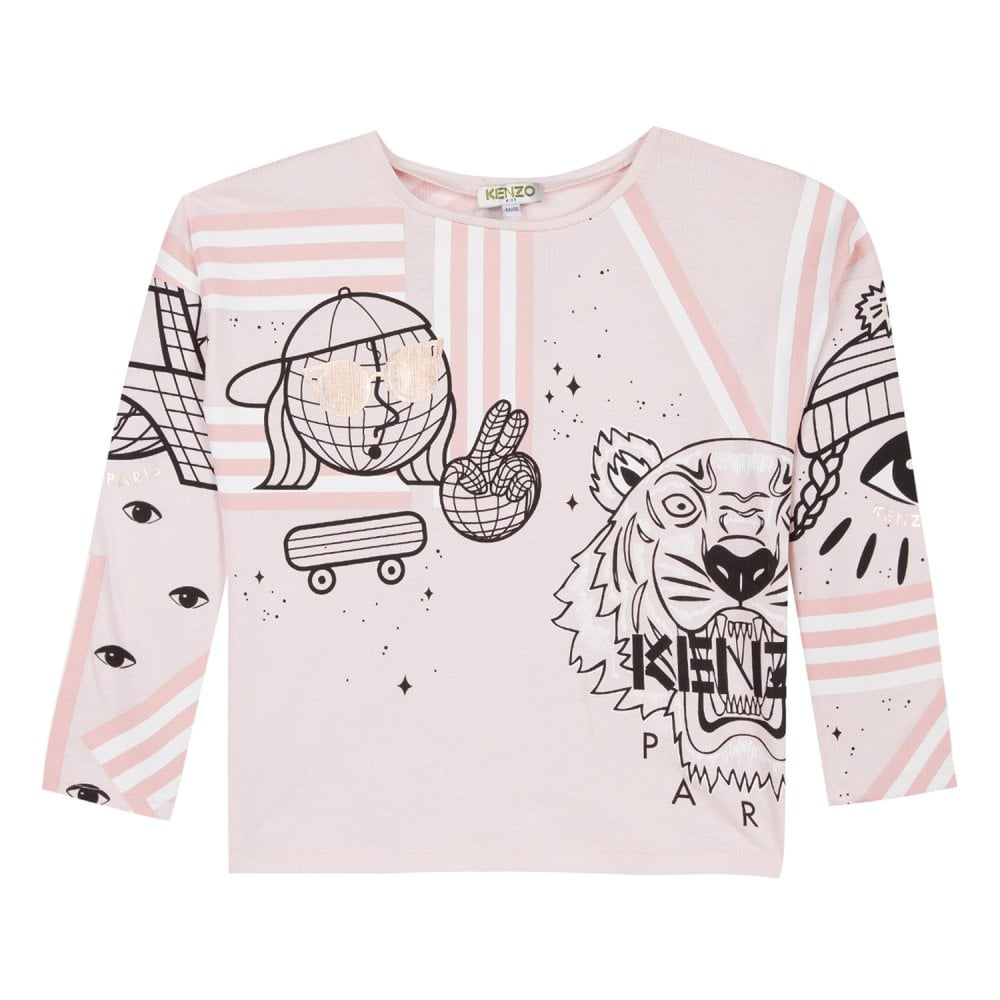 e994b386 Kenzo Kids Juniors Eloa Comic Print T-Shirt (Pink) - Kids from Loofes UK