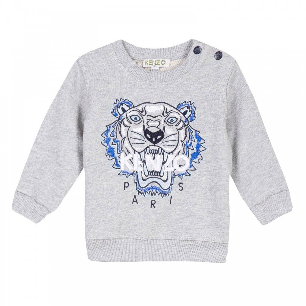 ff81559d Kenzo Kids Juniors Embroidered Tiger BB 2 BIS Sweatshirt (Grey ...