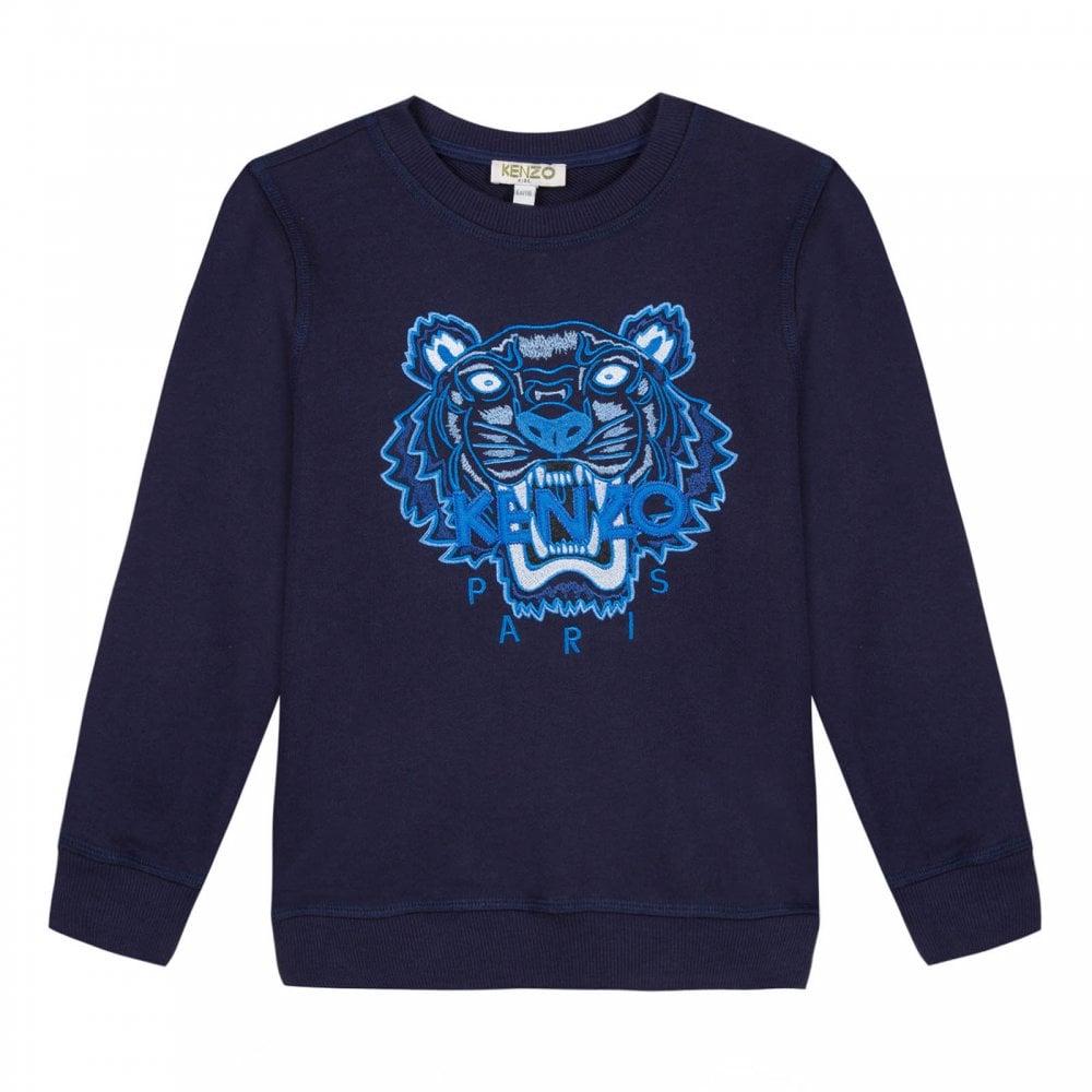 e0d1b090 Juniors Embroidered Tiger Face JB Per 2 Sweatshirt (Navy)