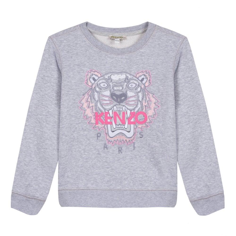 1798c402 Kenzo Kids Juniors Embroidered Tiger Per 2 Sweatshirt (Grey) - Kids ...