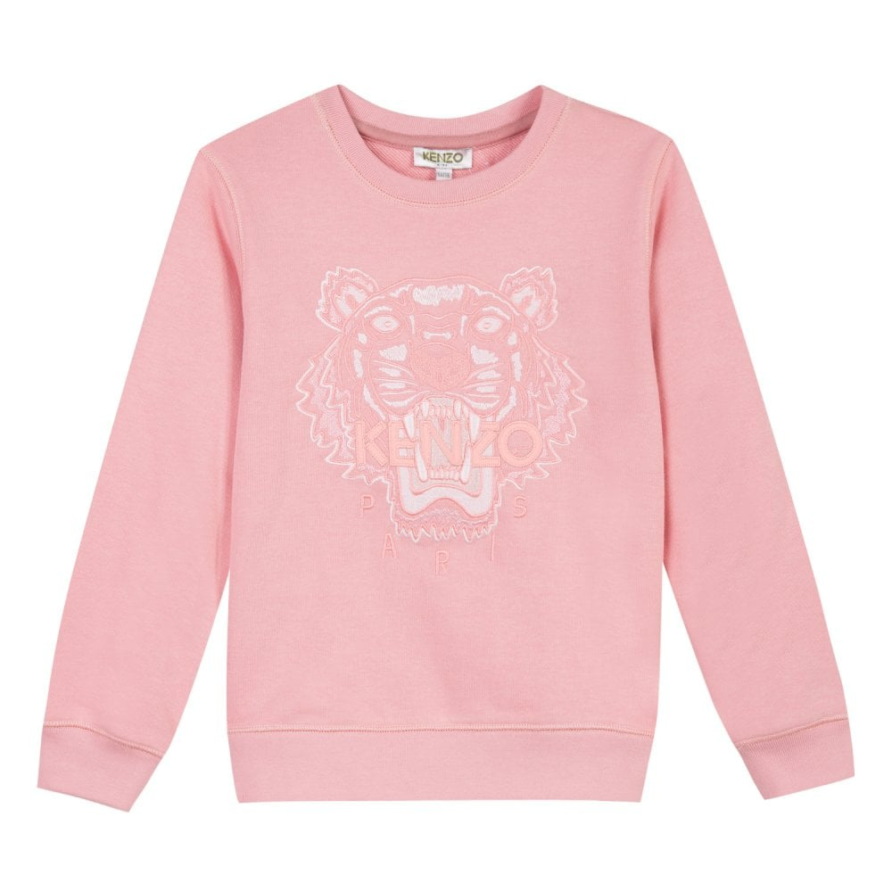62c5efd0 Kenzo Kids Juniors Embroidered Tiger Per 2 Sweatshirt (Pink) - Kids ...